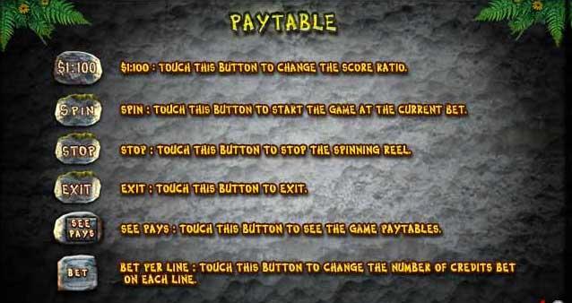 jungle slot play table